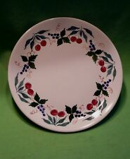 Italian 14.5 inch ceramic serving platter with colorful CHERRIES & blue berries.