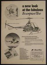 1973 Rotorway Scorpion Too Helicopter original vintage AD