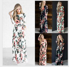 NEW  Womens Floral Long Maxi Dress Long Sleeve Evening Party long section dress.