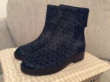 Orla Kiely Clarks, Andie Navy Boots/Shoes In Size 4, EUR 37, Vintage/Retro