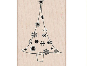 """HERO ARTS """"DECORATED CHRISTMAS TREE"""" RUBBER STAMP"""
