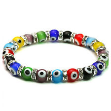 Evil Eye Murano Glass Bead Multicolured Protection Bracelet