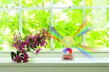 Kikkerland Standing Solar Powered Rainbow Maker #1586 place in a sunny window