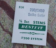 1450 Bestfit 200/1450 Nos Seiko part Vintage Seiko Solar watch winding stem