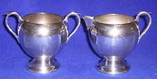 Sheffield Silverplated Cream and Sugar Bowls - SHIPPING INCLUDED