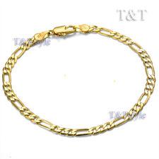 T&T 4mm Gold Plated Figaro Chain Bracelet (Cb42)