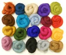 Felting Wools - Merino Wool Tops - VARIETY PACK - 20 colours