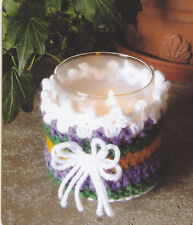 Crochet Pattern ~ CANDLE JAR COVER ~ Instructions