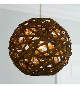 Bamboo Ball Easy Fit Pendant Ceiling Light Shade