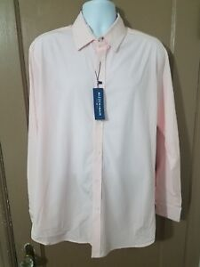 Mizzen + Main PINK Leeward Blue Label dress shirt (Trim fit)  XL $129 NWT