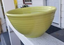 Massive Bauer Pottery Rings Inside #9 Mixing Bowl in Chartreuse Vintage Ringware