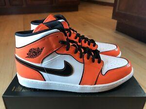 Nike Air Jordan 1 Mid SE Turf Orange Black White DD6834 802 Men's Size 10
