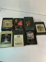 Assorted Rock 8 Track Tapes Lot 7