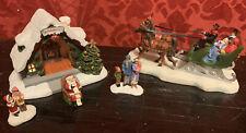 Thomas Kinkade Snow Merry Sleigh Ride & Santa'S House 2004 Hawthorne Village