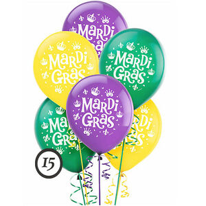 Mardi Gras Latex Balloons Birthday Party Decoration French New Orleans