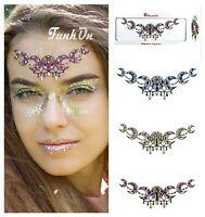 Moon Face Gems Adhesive Glitter Bindi Jewel Tattoo Sticker Festival Body Make up
