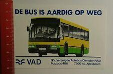 Aufkleber/Sticker: VAD de Bus is aardig op weg (08101648)