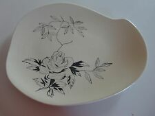 *RARE* Red Wing Pottery MIDNIGHT ROSE - Large Serving Tabbed Platter