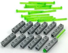 LEGO 12 NEW SPRING LOADED TANS-BRIGHT GREEN MISSILES DART SHOOTERS PARTS