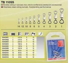 GIRELLA PESCA IN ACCIAIO INOX TB 110 SS SIZE 10 TUBERTINI 65 LB ROLLING SWIVEL