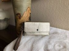 COACH Metallic Triple Small Wristlet in Colorblock Platinum Multi 39250