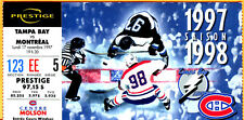 GORGEOUS NHL HOCKEY TICKET STUB! 11/17/97 MONTREAL CANADIENS/TB LIGHTNING-FRENCH