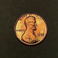 1976 Lincoln Memorial Cent 1C - Gem Uncirculated - Colorful Toning