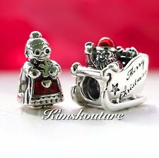 Authentic PANDORA Gift Set 2 Xmas Charms 792004CZ and 792005EN07