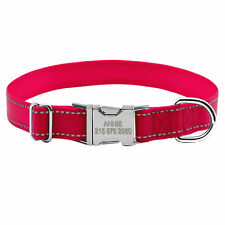 Nylon Reflective Personalized Dog Collars Engraved Metal Buckle Doggie Collar