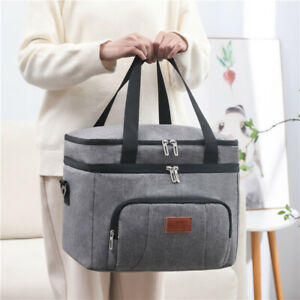 24L Insulated Cooling Picnic Travel Camping Cooler Bag Lunch Food Ice Drink LT