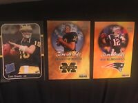 🔥Tom-Brady INCREDIBLY RARE- 3 CARD COLLECTION - ONLY 2000 Made!!🔥