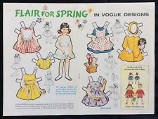 1961, Flair for Spring Paper Dolls, Vogue Pattern Series, Jack & Jill Mag