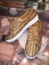 NWT Michael Kors Collection Valin Snakeskin Sneaker Suntan Shoes Womens 5.5