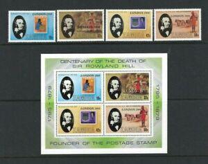 Zambia 1980, 'London 1980' International STAMPEX sg301/4 & MS305 MNH