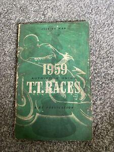 Isle of Man TT Races 1959 Programme, scorecard and map. Good condition.