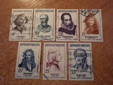 TIMBRES STAMP FRANCE 1132 à 1138 Celebrités Etrangeres 1957 Obliterés Used