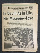 Martin Luther King Funeral - Civil Rights -1968 Boston Record-American Newspaper