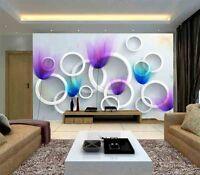 Dazzling Soft Flower 3D Full Wall Mural Photo Wallpaper Printing Home Kids Decor