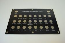 The Great British Coin Hunt A - Z 10p / Ten Pence Coin Holder - 26 holes - Flat