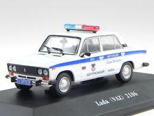 Lada VAZ 2106 russian police St. Petersburg diecast model car 7598009 Atlas 1:43
