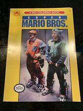 Super Mario Bros Movie Coloring Book Nintendo Unused Vintage New RARE Promo NES