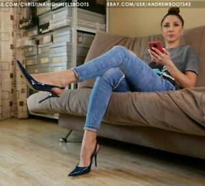 GIANMARCO LORENZI EU37 US7 pointed toe stiletto patent leather slingbacks VIDEO