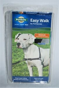 Petsafe Easy Walk Dog Harness Medium Black Silver No Pull