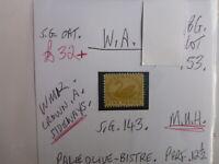 WEST AUSTRALIA SWAN STAMP S.G. 143 5d PALE OLIVE BISTRE M.U.H.