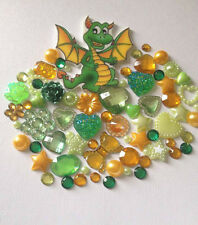 Dragon Mix Flatbacks Resin Pearls  Embellishments Card making scrapbooking