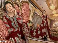 Pakistani anarkali shalwar kameez suit designer wedding dress partywear sharara