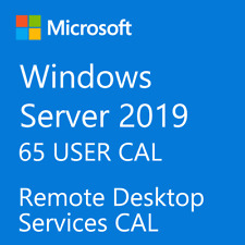 Microsoft Windows Server 2019 Remote Desktop Services RDS 65 USER CAL License