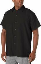 Chef Code Men's Kitchen Basic Cook Shirt Small Black Button down