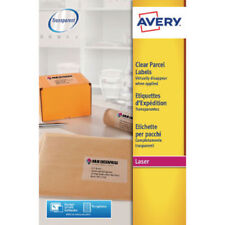 Avery Clear Addressing Labels Laser 1 per Sheet 210x297mm [25 Labels] L7567-25