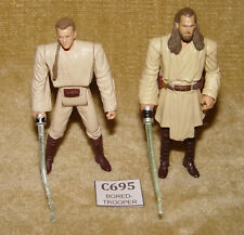 STAR WARS MOVIE HEROES SERIES QUI-GON JINN & OBI-WAN KENOBI HASBRO 2012 LOOSE